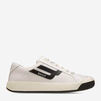 Bally The New Competition White, Women's plain calf leather trainers in white