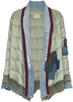 Greg Lauren 'Padded Kimono' patchwork and quilted jacket