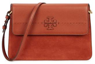 Tory Burch Mcgraw Mixed Brown Shoulder Bag