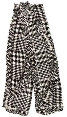 Simone Rocha Tweed Embellished Scarf