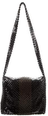Bottega Veneta Chain-Mail Flap Bag Black Chain-Mail Flap Bag