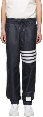 Thom Browne Navy Ripstop 4-Bar Track Pants