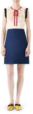 Gucci Silk& Wool Contrast Dress