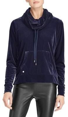 Lauren Ralph Lauren Stretch Velvet Cowlneck Pullover