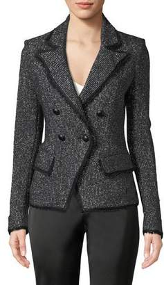 Veronica Beard Frisco Double-Breasted Tweed Jacket
