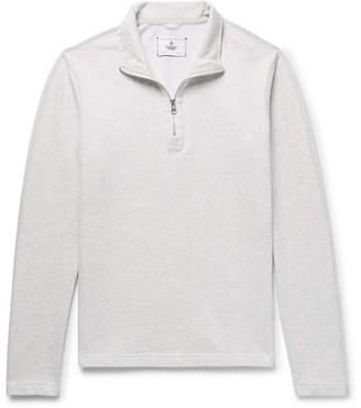Reigning Champ Brushed Loopback Cotton-Jersey Half-Zip Sweatshirt