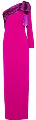 Sachin + Babi Rina One-Shoulder Sequin-Embellished Crepe Gown