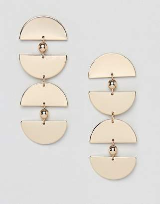 Missguided semi circle drop earrings