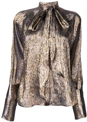 Petar Petrov metallic long-sleeve top