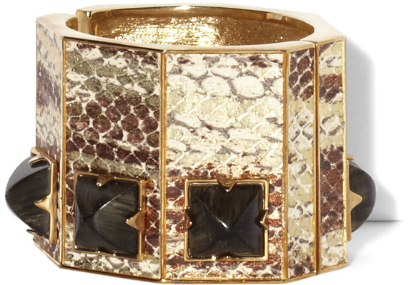 Vince Camuto Pyramid Stone Leather Cuff