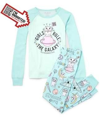 Children's Place The Girl's 2 Piece Galaxy Pajama Sleep Set (Big Girls & Little Girls)