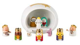 Alessi 11-Piece Xtraordinary Xmas Nativity Set