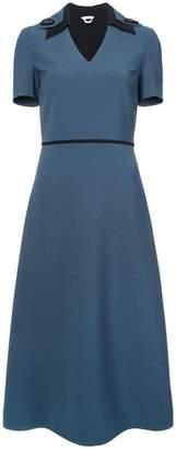 Fendi short-sleeve flared midi dress
