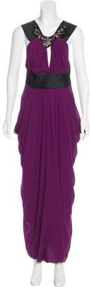 J. Mendel Sleeveless Maxi Dress