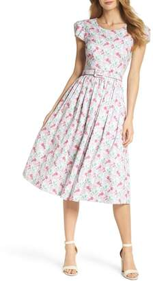 Gal Meets Glam Packed Bouquet Print Cotton Dress