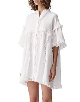 Joslin Alice Linen/Ramie Smock Shirt Dress