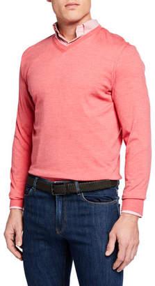 Peter Millar Men's Excursionist Flex V-Neck Sweater