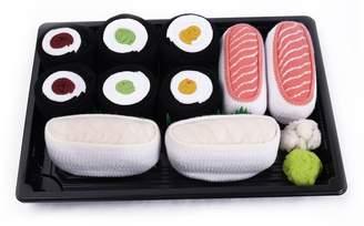 Rainbow SUSHI SOCKS BOX 5 pairs Butterfish Salmon Maki FUNNY GIFT! Made in Europe S