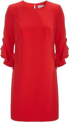 Milly Fernanda Ruffle Sleeve Mini Dress