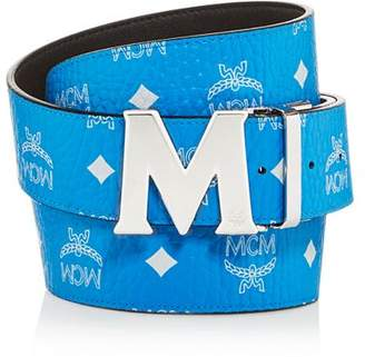 MCM Visetos Logo Monogram Reversible Belt