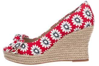 Tory Burch Floral Espadrille Wedges