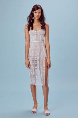 For Love & Lemons Dakota Lace Midi