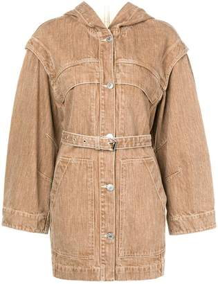Etoile Isabel Marant hooded single-breasted coat