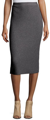 Eileen Fisher Fisher Project Luxe Wool Ribbed-Knit Pencil Skirt $258 thestylecure.com