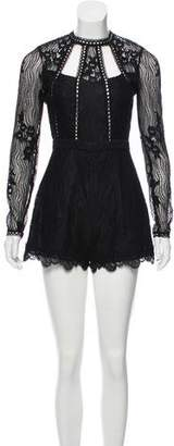 Alexis Lace Open Back Romper w/ Tags