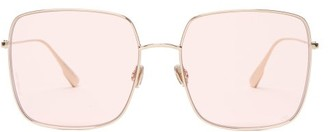 Christian Dior Diorstellaire1 Square Frame Sunglasses - Womens - Light Pink
