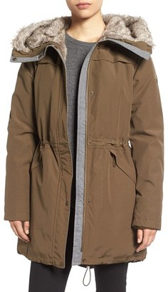 Women's Vince Camuto Parka With Faux Fur Lined Hood $248 thestylecure.com