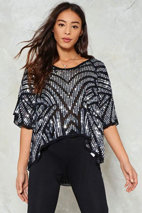 nastygal I'm in the Mood for Dancin' Sequin Top