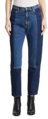 McQ Patch Denim Boyfriend Jeans