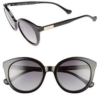 Women's Sonix Holland 50Mm Gradient Round Sunglasses - Black Fade/ Black $89 thestylecure.com