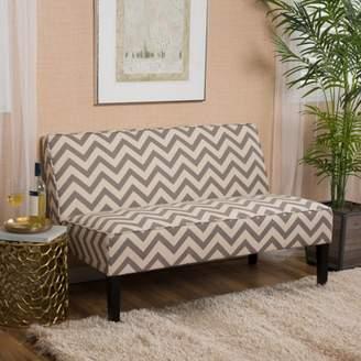Noble House Arden Dark Gray Pine Chevron Fabric Love Seat