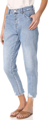 DL1961 Goldie High Rise Tapered Jeans $188 thestylecure.com