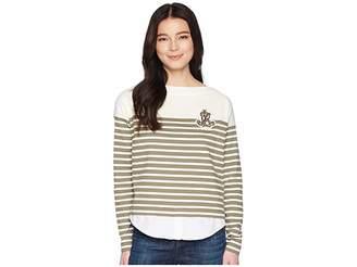 Lauren Ralph Lauren Petite Striped Layered Cotton Sweater Women's Sweater