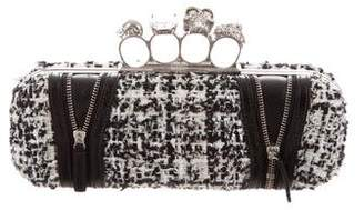 Alexander McQueen Tweed Knuckle Duster Clutch