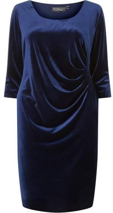 Womens **Billie & Blossom Curve Navy Bodycon Dress