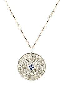 Feathered Soul Women's Evil Eye Pendant Necklace