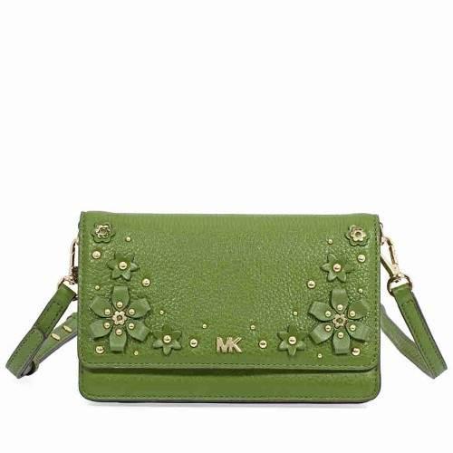 Michael Kors Floral Embellished Convertible Crossbody- True Green - TRUE GREEN - STYLE
