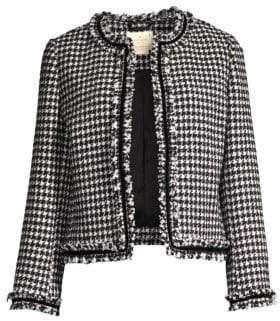Kate Spade Dashing Beauty Houndstooth Tweed Jacket