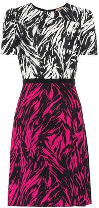 N°21 Zebra-print silk-blend minidress