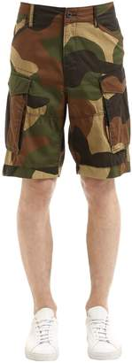 G Star Rovic Loose Camo Twill Cargo Shorts