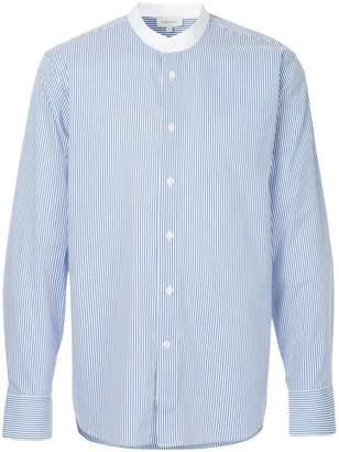 CK Calvin Klein striped grandad shirt