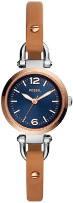 Fossil Women's Georgia Luggage Leather Strap Watch 26mm