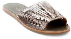 Coconuts by Matisse Mateo Textured-Strap Leather Slides