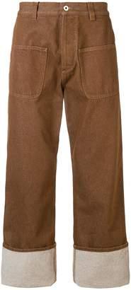 Loewe turn-up hem wide leg trousers