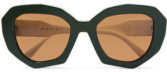 Marni Cat-eye Two-tone Acetate Sunglasses - Black
