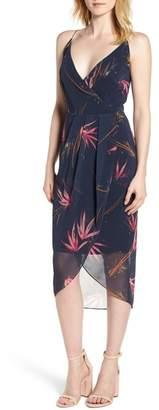 Chelsea28 Print Drape Sheath Dress